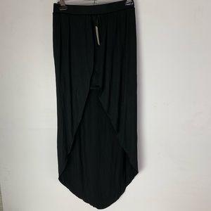 Forever 21 Hi Lo Soft Black Skirt Pull on New